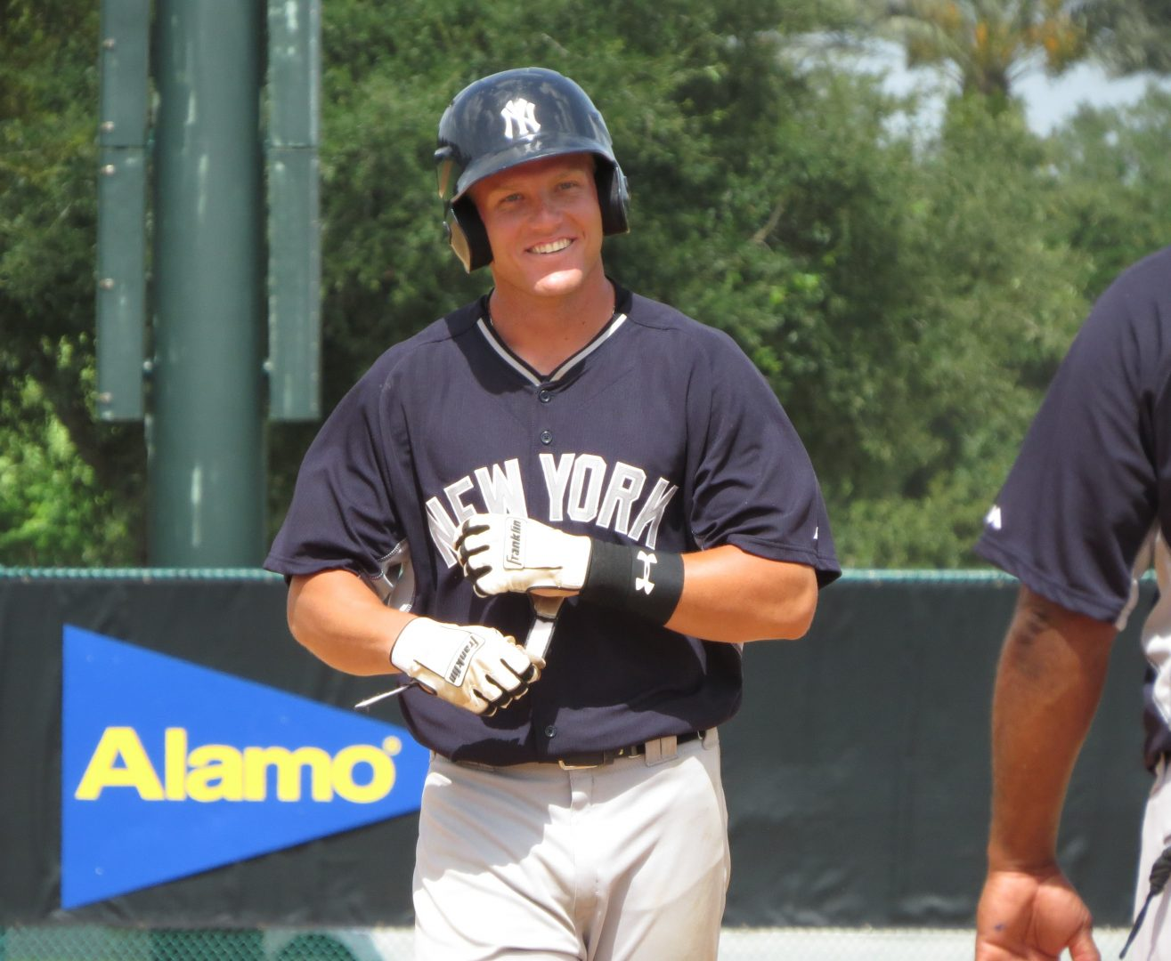 Trey  Amburgey with the GCL Yankees (Bryan Green)