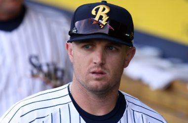 Chris Parmelee's three-run homer got the RailRiders started in Memphis Tuesday night. (Photo by Martin Griff).
