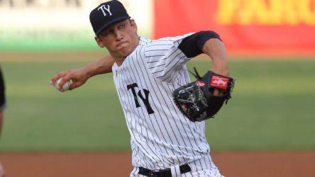 James Kaprielian (©Mark LoMoglio/Yankees)