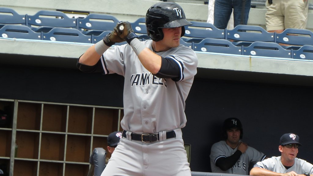 New York Yankees minor leaguer Zach Zehner with the Tampa Yankees of the Florida State League (Bryan Green)
