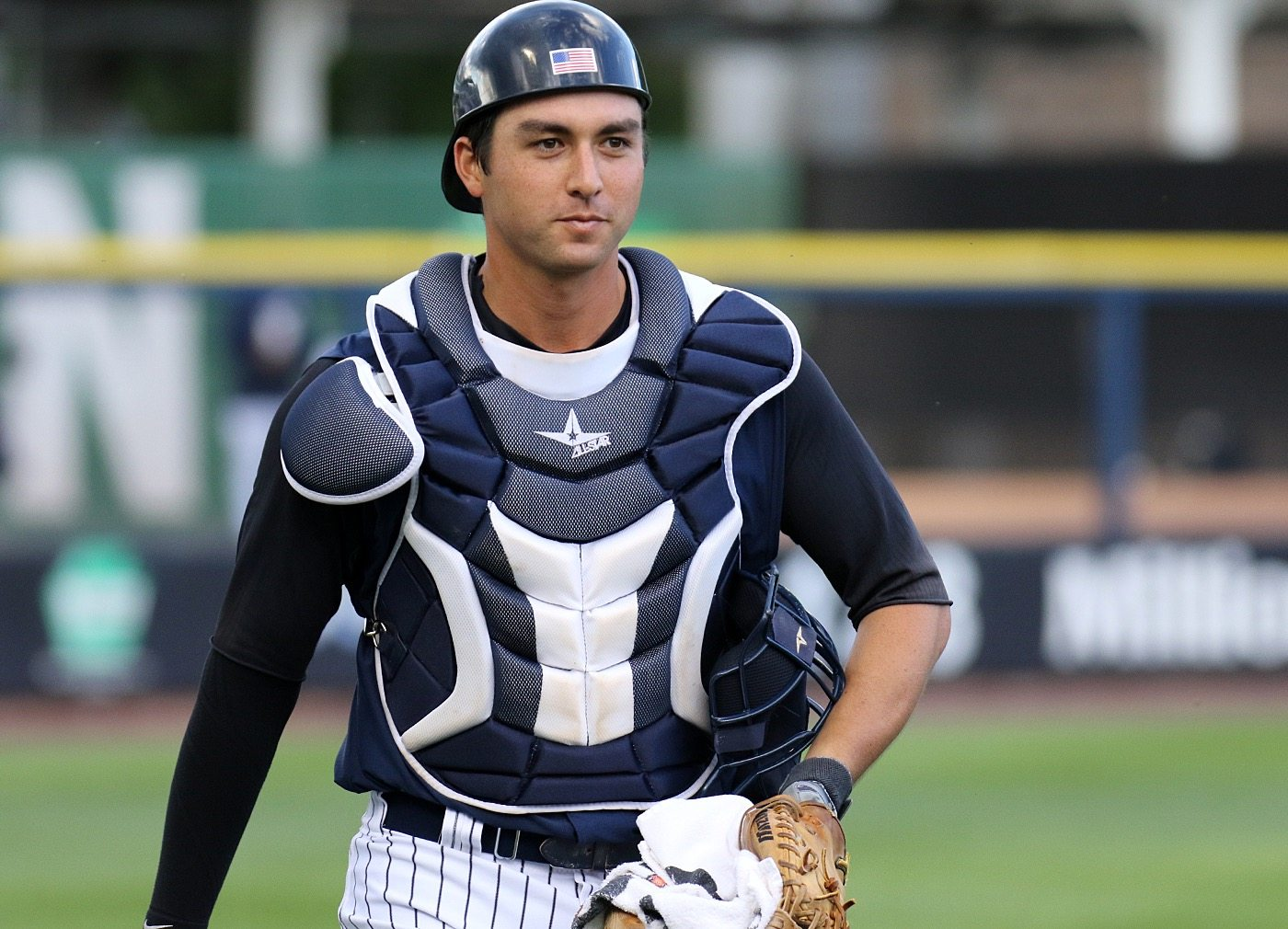 Kyle Higashioka . (Photo by Martin Griff)