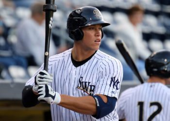 Aaron Judge's two home runs fueled the RailRiders  in 2016 (Photo by Martn Griff)