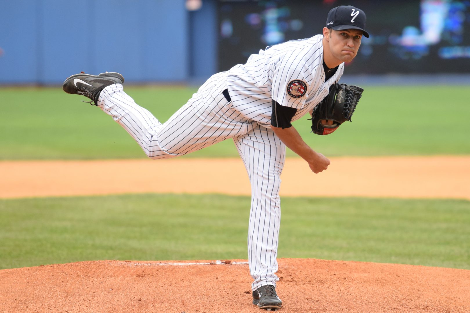 Staten Island Yankees starter Kolton Mahoney became the first Baby Bombers pitcher to throw a complete game since 2010, and the first to pitch 9-innings in over a decade. (Robert M. Pimpsner)