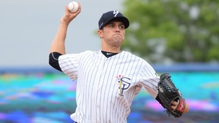 Kolton Mahoney will start the first game of the 2016 playoffs for the Staten Island Yankees (Robert M. Pimpsner)