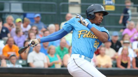Rashad Crawford is one of the newest group of the Yankees prospects. (Larry Kave/Myrtle Beach Pelicans)
