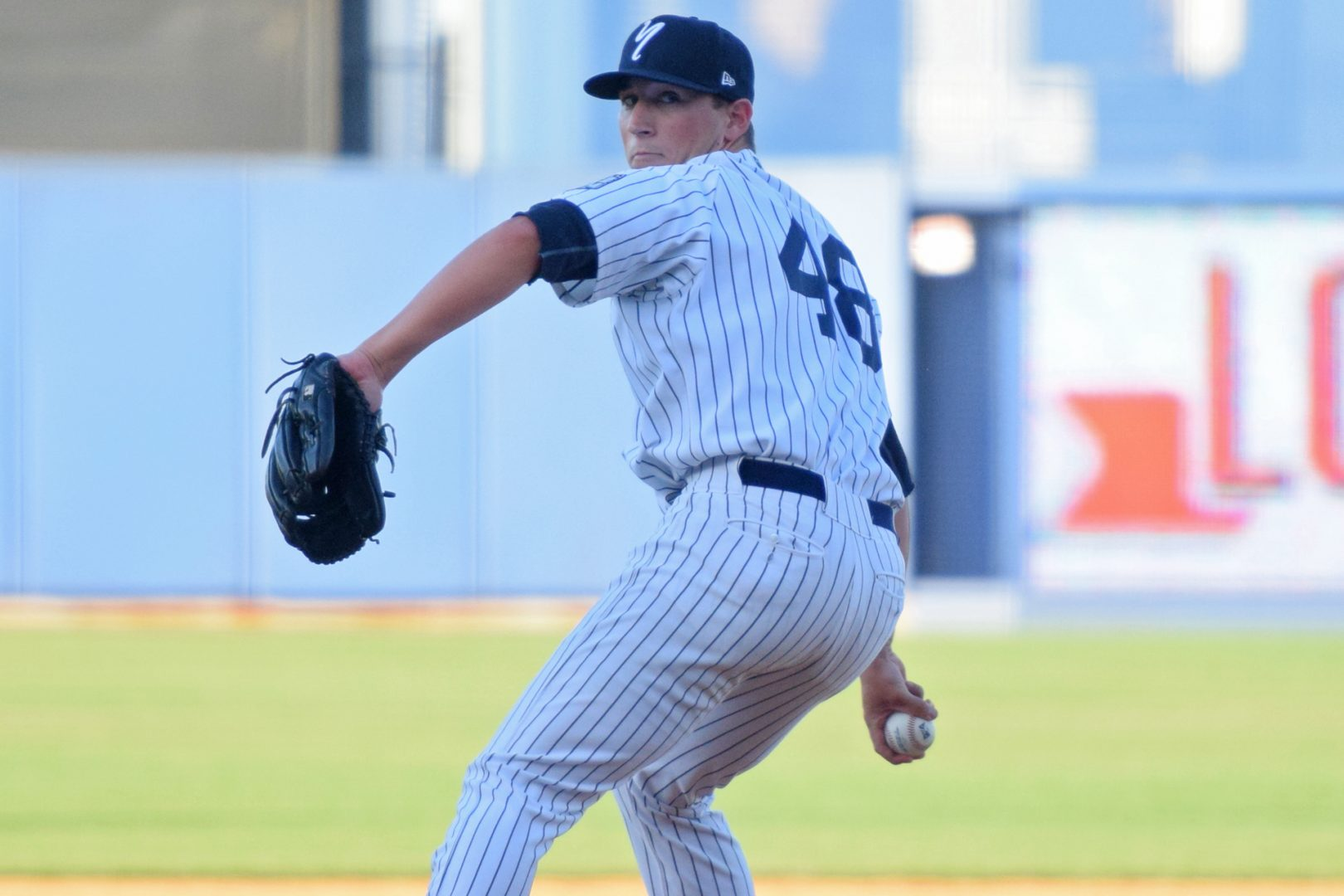 RHP Taylor Widener took over on the mound for the 8th inning. (Robert M. Pimpsner)