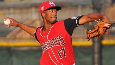 Dillon Tate in hist Yankees debut with the Charleston RiverDogs (Charleston RiverDogs)