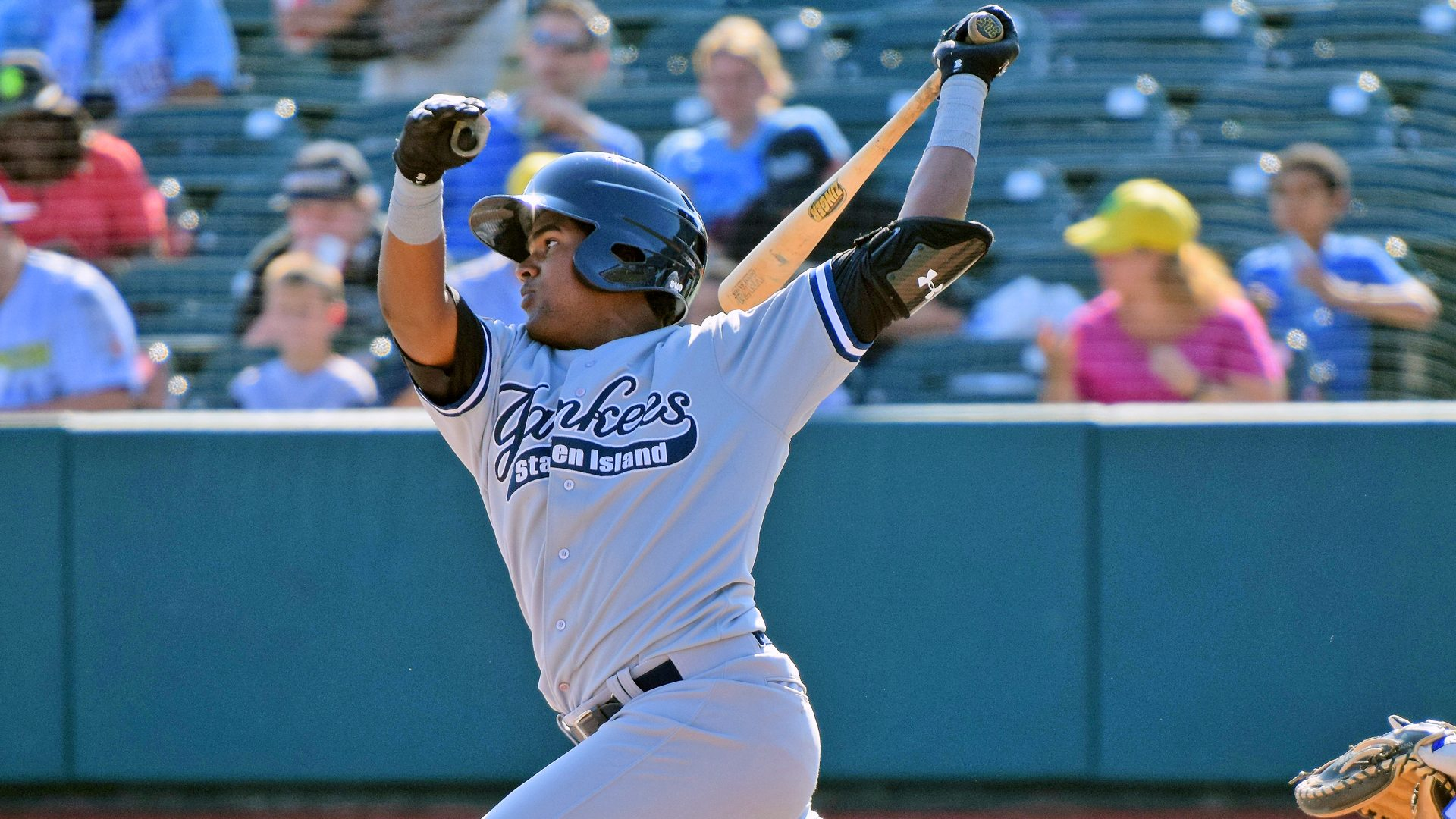 Welfrin Mateo was 2-for-5 with 3 RBI's in his first game for the Staten Island Yankees. (Robert M. Pimpsner)